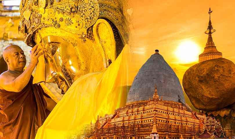 ทัวร์พม่า พุกาม มัณฑะเลย์ อมปุระ มิงกุล 4 วัน 3 คืน บิน(FD)