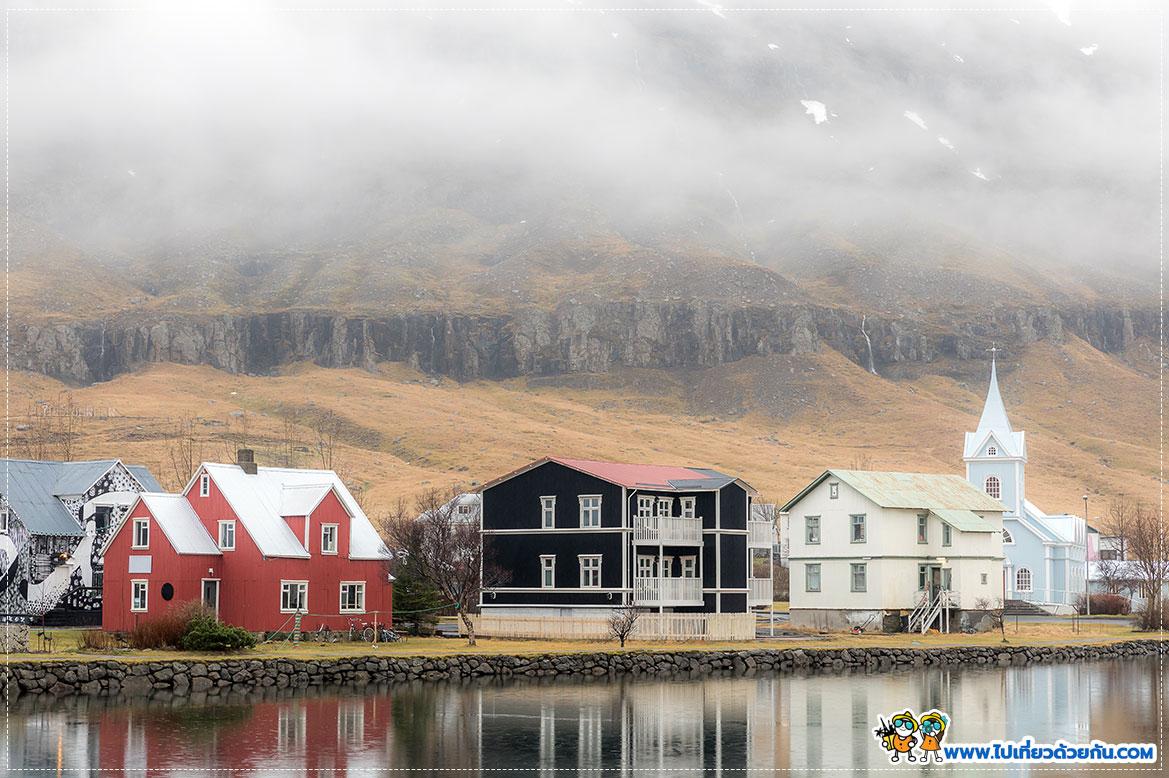 หมู่บ้าน Seydisfjordur