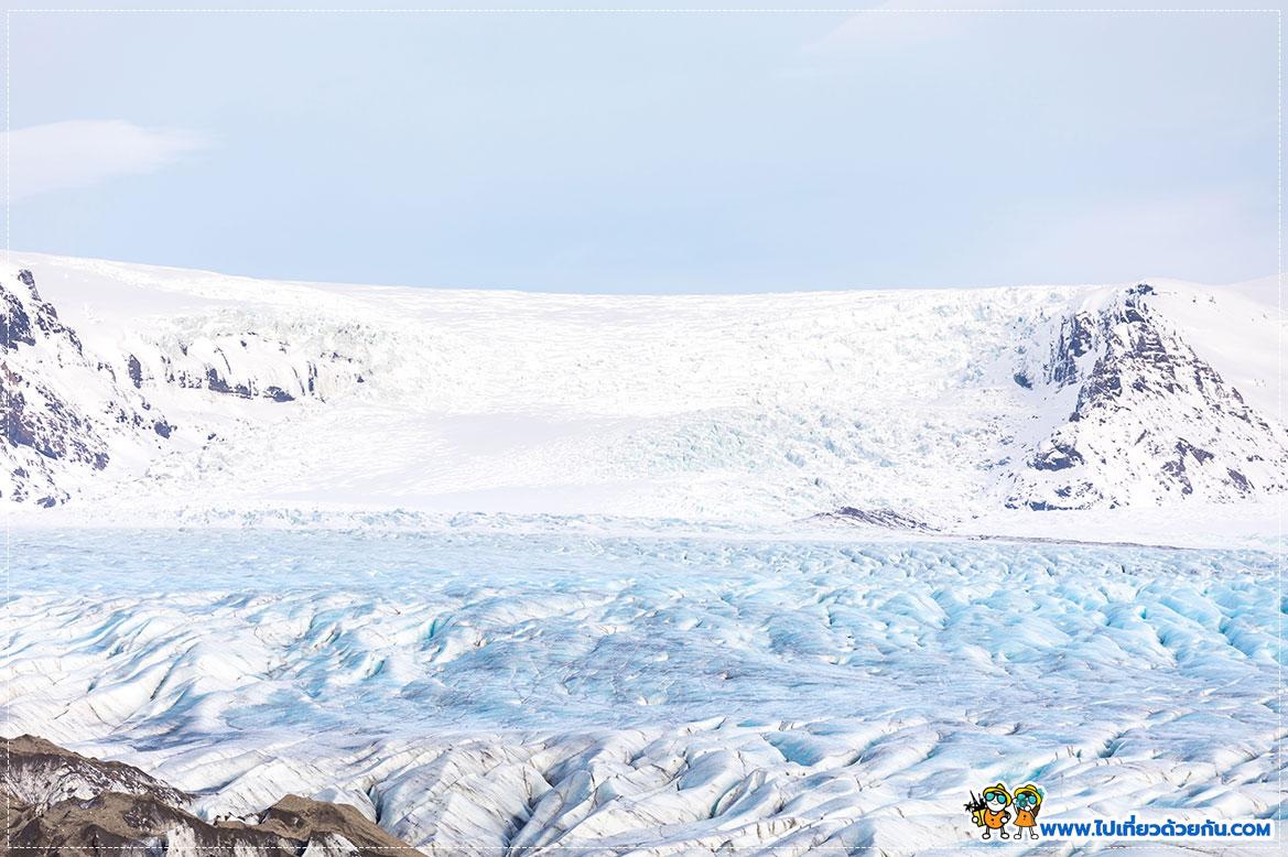 ธารน้ำแข็ง Skaftafellsjökull glacie