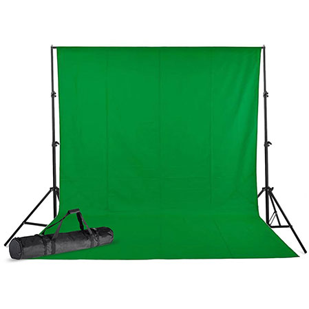 cotton solid backdrop cloth 3x6M+Studio Stand Set 3×3 m