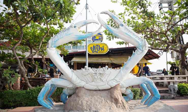ร้านอาหารซีฟู้๊ด ปูเป็น เลื่องชื่อของเมืองพัทยา