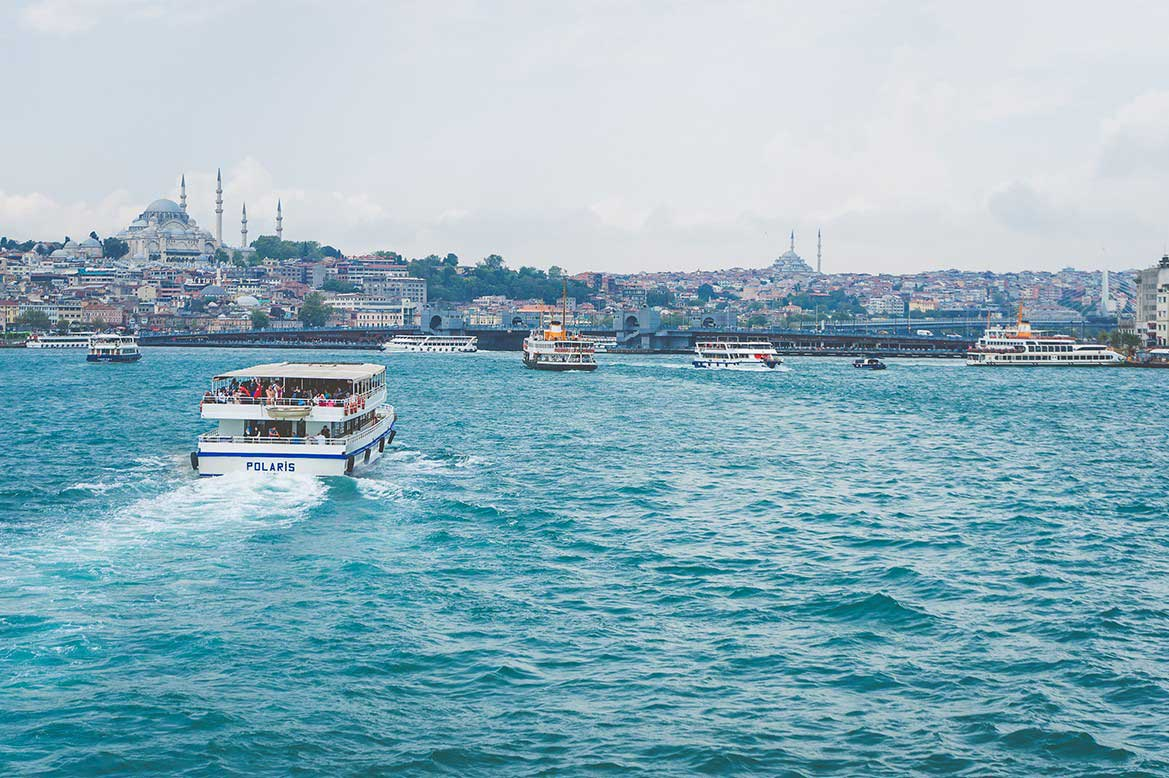 เที่ยวตุรกี ช่องแคบบอสฟอรัส ล่องเรือช่องแคบสองทวีป เที่ยวตุรกี สัมผัสบรรยากาศฟินสุดๆ