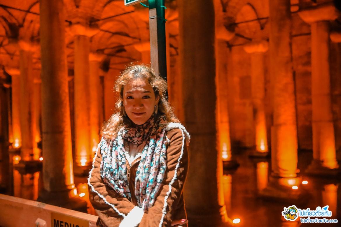 เที่ยวตุรกี อ่างเก็บน้ำใต้ดินเยเรบาตัน ซากโบราณพระราชวังใต้ดิน อันน่าทึ่งของกรุงคอนสแตนติโนเปิลสมัยไบเซนไทน์