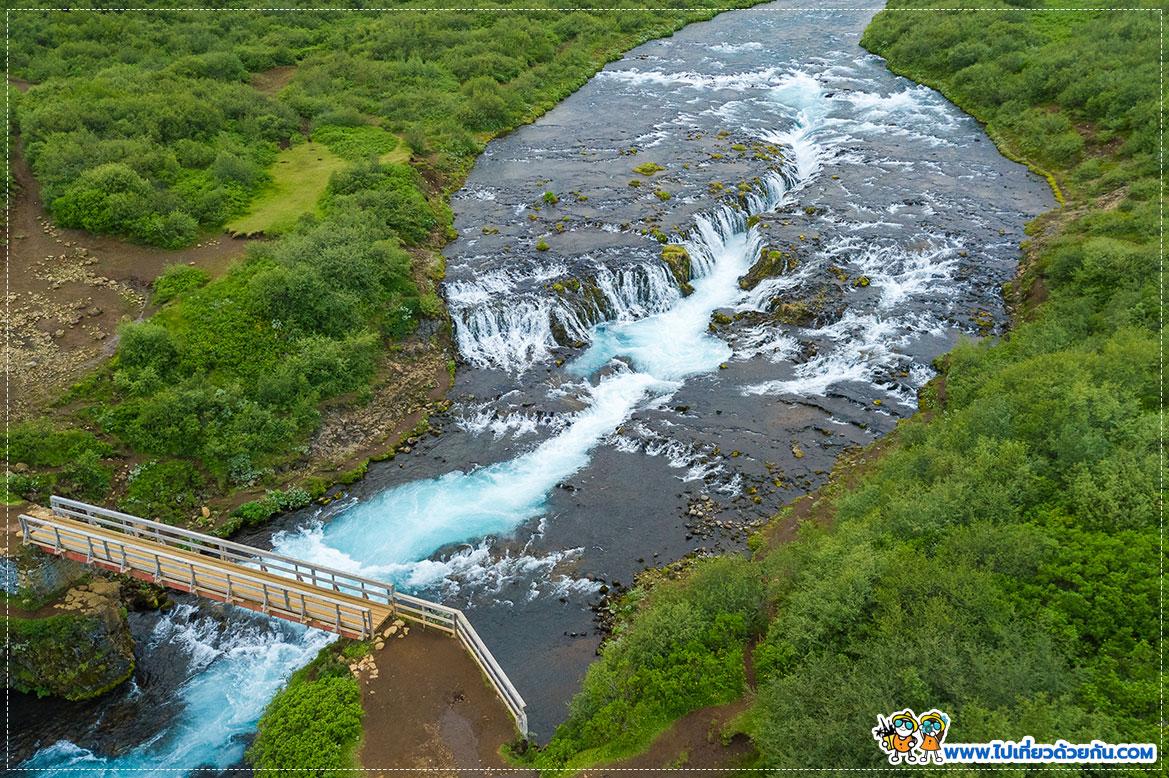 - น้ำตกสะพาน Brúarfoss -