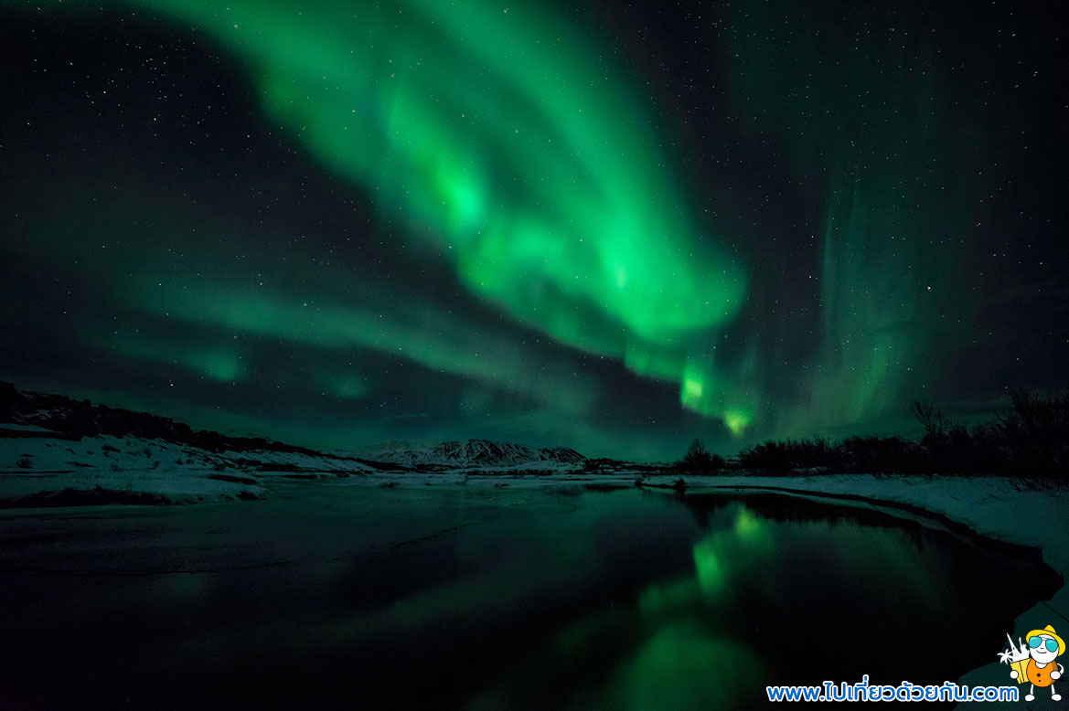- ดูแสงเหนืออุทยานแห่งชาติซิงเควลลิร์ Thingvellir National Park -