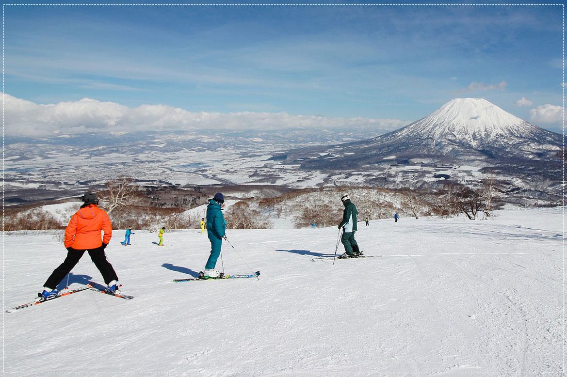 - เล่นสกีฮอกไกโด -