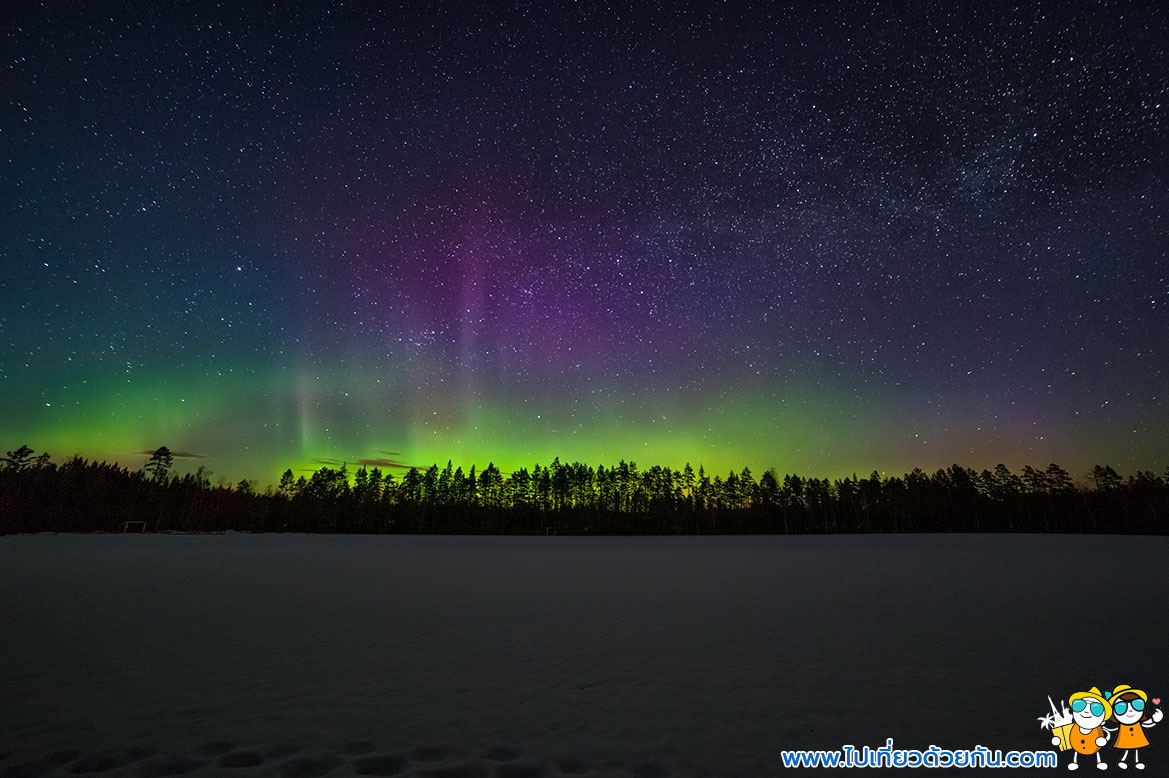 - ดูแสงเหนือประเทศสวีเดน -