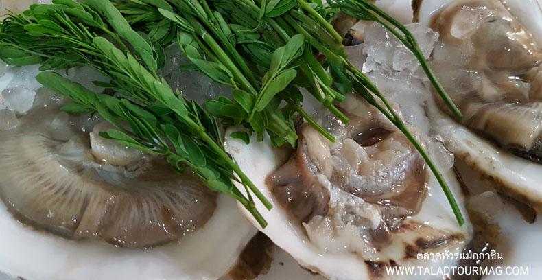 - หอยนางรมสดๆ ปัญญา ซีฟู้ด -
