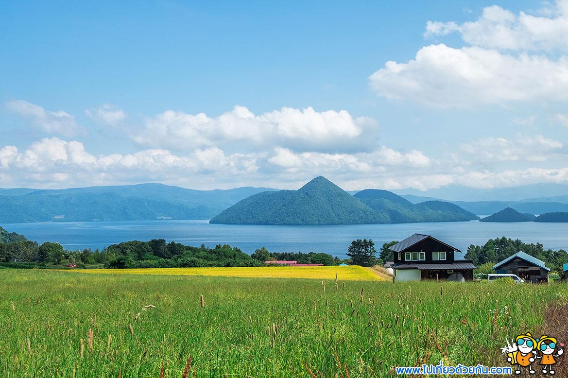- ทะเลสาบโทยะ (Lake Toya), เมืองโทยะ (Toya) -