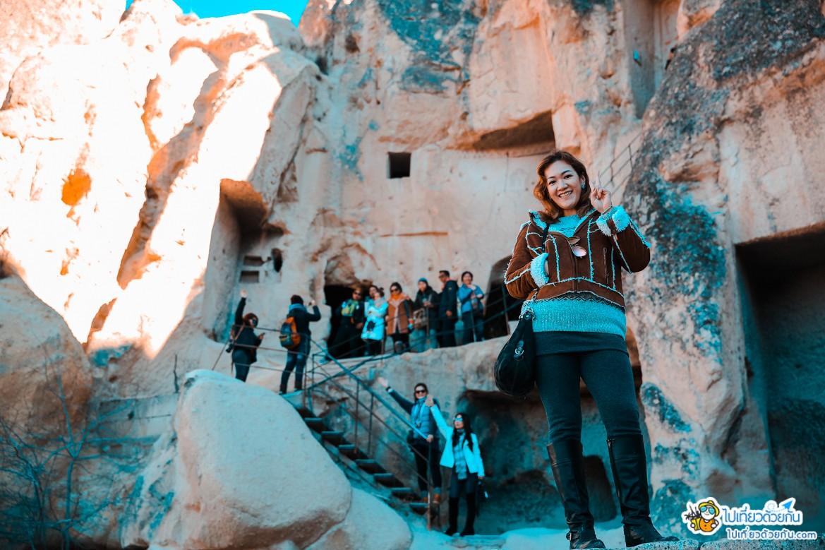 เที่ยวตุรกี เกอเรเม่ พิพิธภัณฑ์กลางแจ้ง เมืองคัปปาโดเกีย ประเทศตุรกี ดินแดนโบสถ์ถ้ำล้ำค่า และภาพเฟรสโก้อายุพันปี