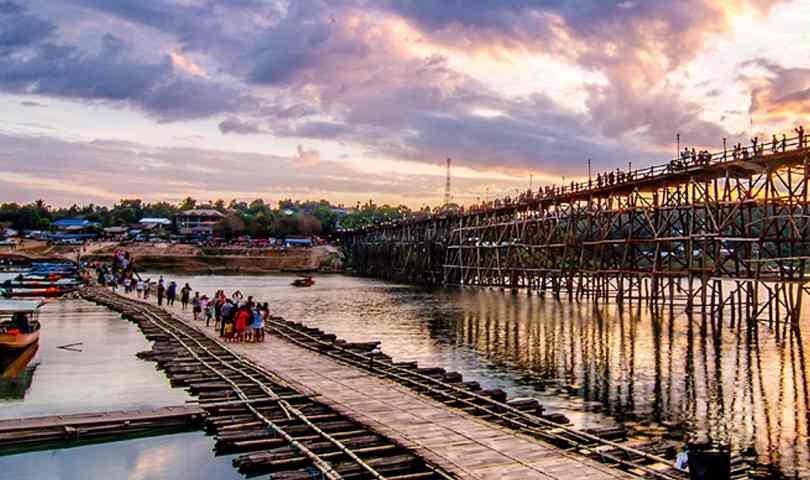ทัวร์สังขละบุรี โบสถ์จมน้ำ กาญจนบุรี พม่า 2 วัน 1 คืน
