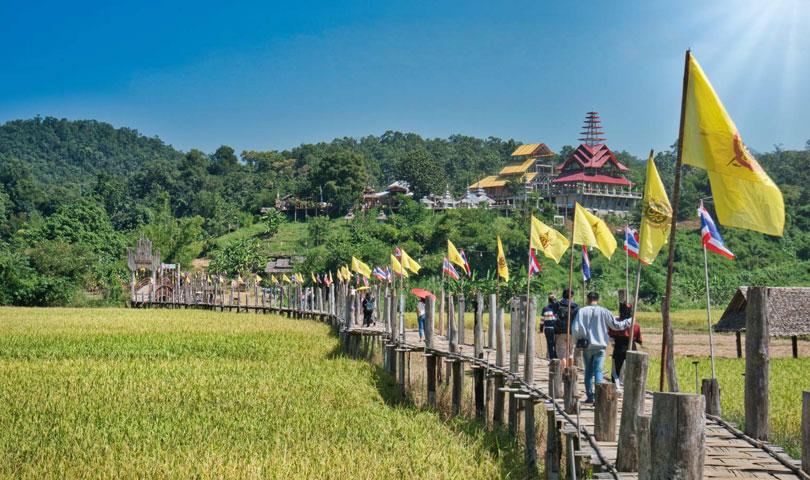 ทัวร์แม่ฮ่องสอน ปางอุ๋ง หมู่บ้านรักไทย สะพานซูตองเป้  4วัน 2คืน โดยรถตู้